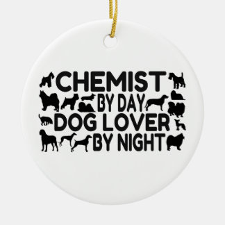 Chemist by Day Dog Lover by Night Ceramic Ornament