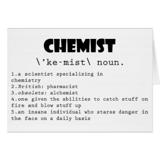 Chemist Definition Card