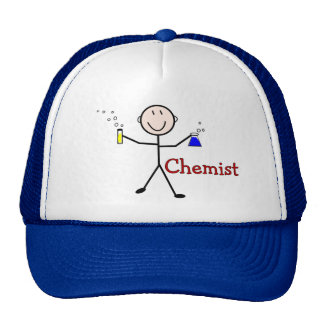 Chemist Gifts-Stick Person With Test Tubes Trucker Hats
