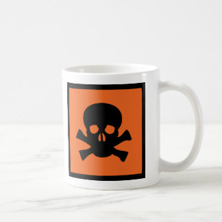 chemist skull sign coffee mug