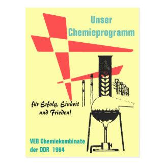 Chemistry advertising Design/poster Design GDR Postcard