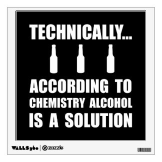Chemistry Alcohol Solution Wall Decal