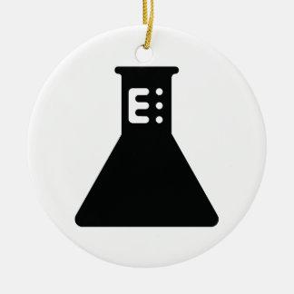 Chemistry Beaker Round Ceramic Ornament