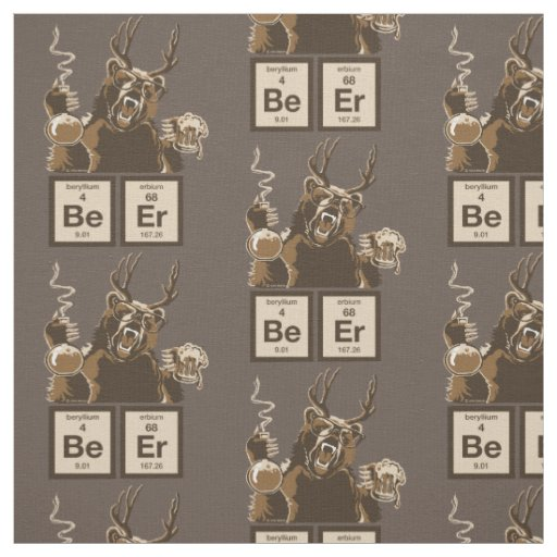 Chemistry bear discovered beer fabric