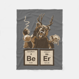 Chemistry bear discovered beer fleece blanket