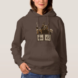 Chemistry bear discovered beer hoodie
