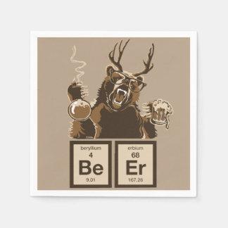 Chemistry bear discovered beer paper napkins