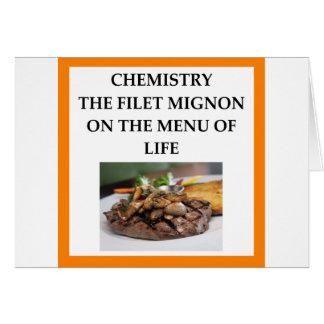 CHEMISTRY CARD