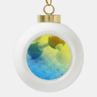 Chemistry Ceramic Ball Ornament