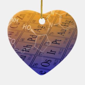 Chemistry Ceramic Heart Ornament