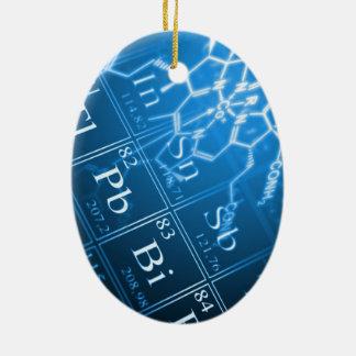 Chemistry Ceramic Oval Ornament