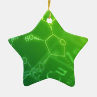 Chemistry Ceramic Star Ornament