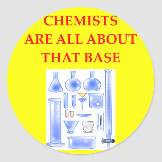 CHEMISTRY CLASSIC ROUND STICKER