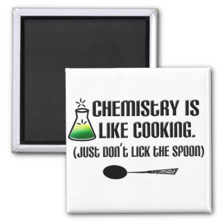 Chemistry Cooking Square Magnet