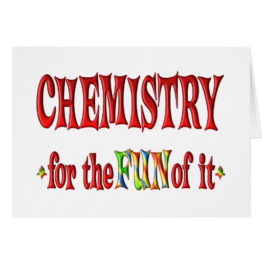 Chemistry for Fun Greeting Cards