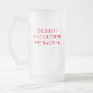 chemistry frosted glass beer mug