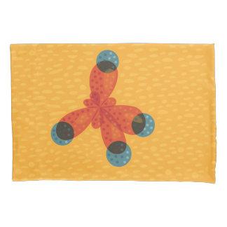 Chemistry Geek Orange Methane Molecule Pillowcase