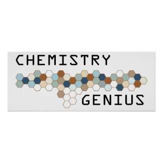 Chemistry Genius Poster