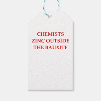 chemistry gift tags