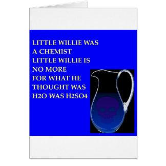 chemistry joke greeting card