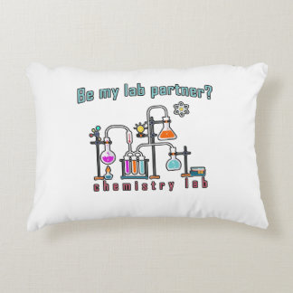 Chemistry lab decorative pillow