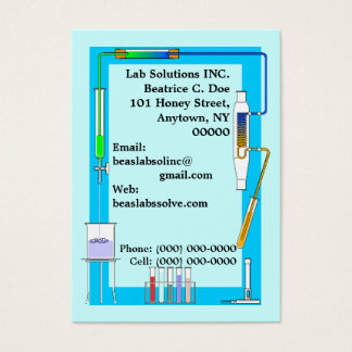CHEMISTRY LAB TEST TUBES BEAKER BUSINESS CARDS