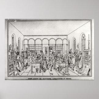 Chemistry laboratory of Baron Justus von Liebig Poster