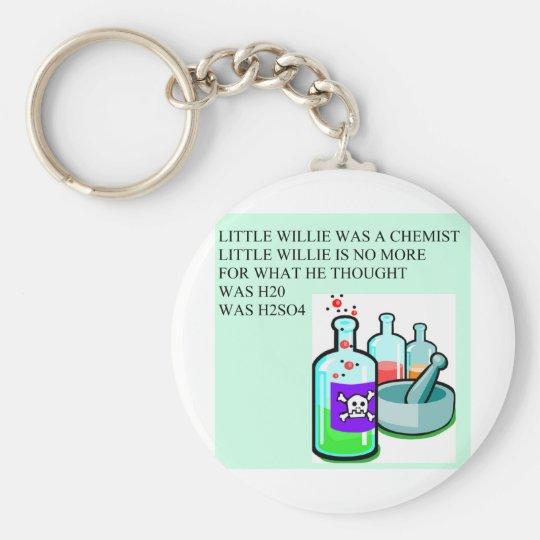 chemistry little willie rhyme basic round button keychain