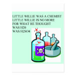 chemistry little willie rhyme post cards