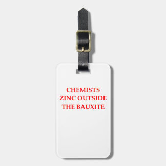 chemistry luggage tag