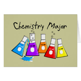 Chemistry Major Gifts Beeker Design Card