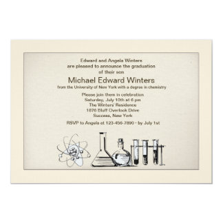 Chemistry Major Graduation Invitation