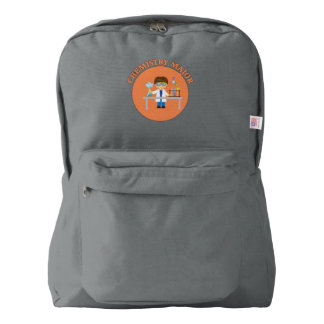 Chemistry Major Orange Scientist Backpack