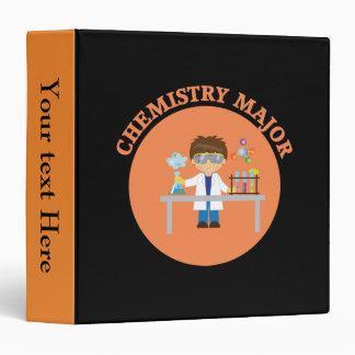 Chemistry Major Orange Scientist Binders
