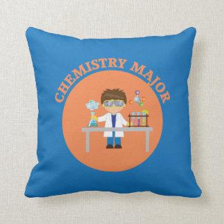 Chemistry Major Orange Scientist Throw Pillow