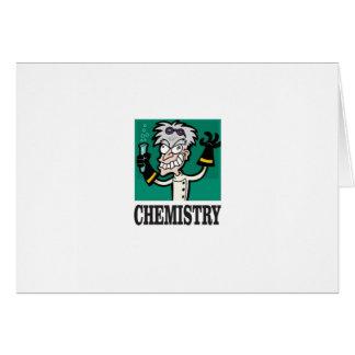 chemistry man in coat card