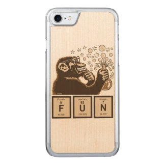 Chemistry monkey discovered fun carved iPhone 8/7 case
