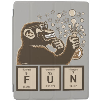 Chemistry monkey discovered fun iPad cover