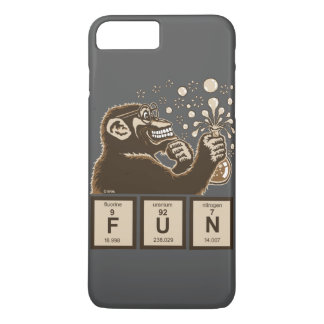 Chemistry monkey discovered fun iPhone 8 plus/7 plus case