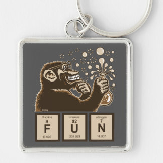 Chemistry monkey discovered fun keychain