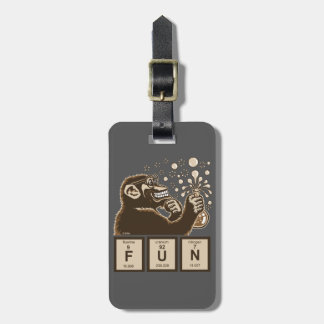 Chemistry monkey discovered fun luggage tag