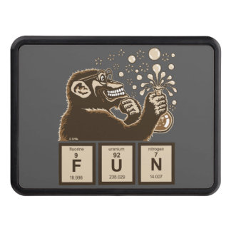 Chemistry monkey discovered fun trailer hitch cover