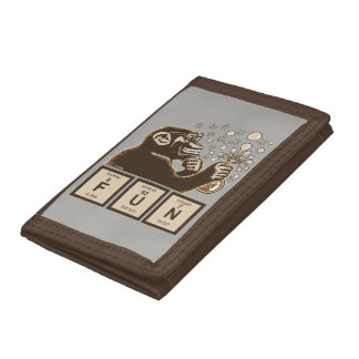 Chemistry monkey discovered fun tri-fold wallet