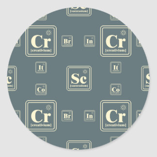 Chemistry of the business. round sticker
