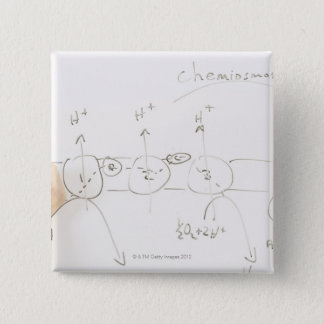 Chemistry on dry-erase board 2 inch square button