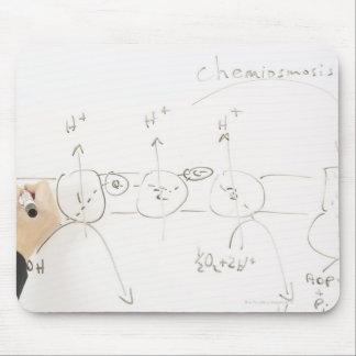 Chemistry on dry-erase board mouse pad