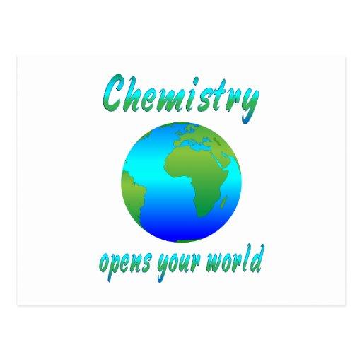 Chemistry Opens Worlds Postcard