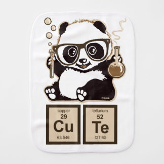 Chemistry panda discovered cute burp cloth