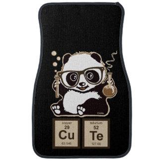 Chemistry panda discovered cute car mat