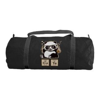 Chemistry panda discovered cute gym bag